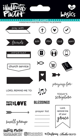 Illustrated Faith Clear Stamps - Faith Planner