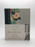Journal the Word Green & Floral KJV Journaling Bible