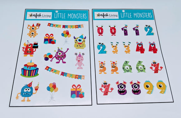 Starfish Living Stickers - Little Monsters