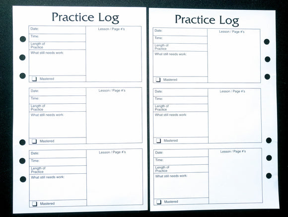Starfish  Living Practice Log Inserts