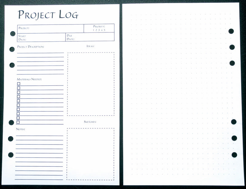Starfish Living Planner Insert - Project Log