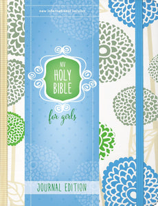 Bible - NIV Holy Bible for Girls in Tan and Blue