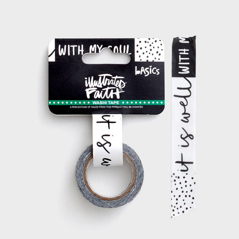 Illustrated Faith Washi Tape - Well With My Soul