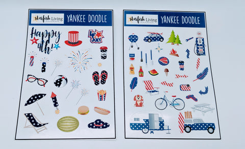 Starfish Living Stickers - Yankee Doodle