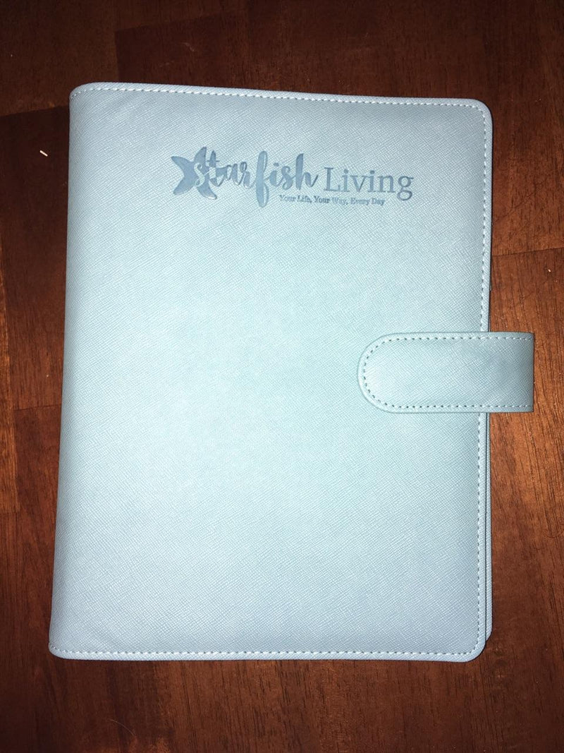 Starfish Living Light Blue Binder Only