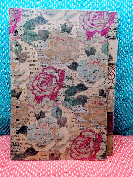 Starfish Living A5 6-Tab Planner Dividers - Vintage Style