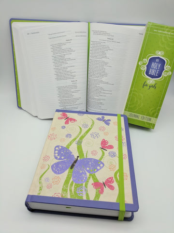 Bible - NIV Holy Bible for Girls Purple Butterflies