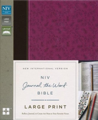 Bible - NIV Journal the Word Large Print Mauve