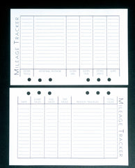 Starfish Living Planner Insert - Mileage Tracker