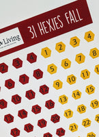 Starfish Living Stickers 31 Hexies Fall