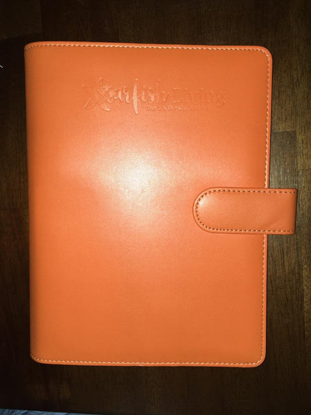 Starfish Living 6-Ring Binder Only - Harvest Orange