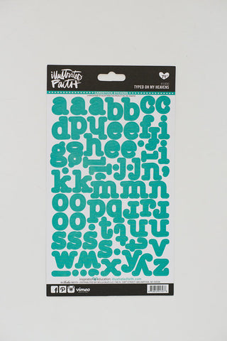 Illustrated Faith Stickers - Typed Letters Oh My Heavens