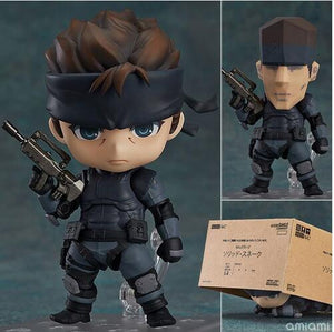 Metal Gear Solid SONS OF LIBERTY Solid Snake Cartoon Action Figure