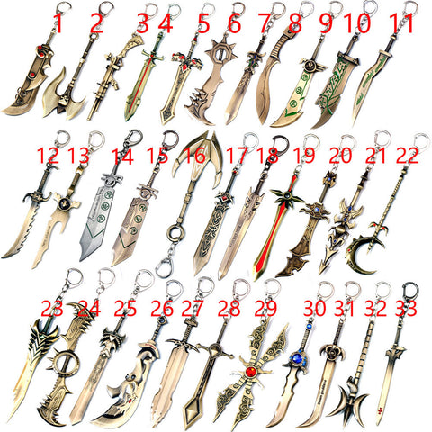 League Of Legends Weapon Keychain (1-17)
