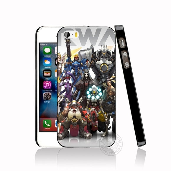 Overwatch Characters Case for iphone 6 4 4s 5 5s SE 5c 6 6s 7 8 plus case for iphone 7 X