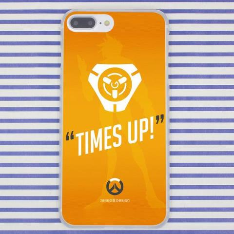Time is Up Overwatch  Phone Case for Apple iPhone X 10 8 7 6 6S Plus 5 5S SE 5C 4 4S