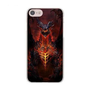 Deathwing World of Warcraft Case for Apple iPhone X 8 7 6 6S Plus 5 5S SE 5C 4 4S 10 Cover