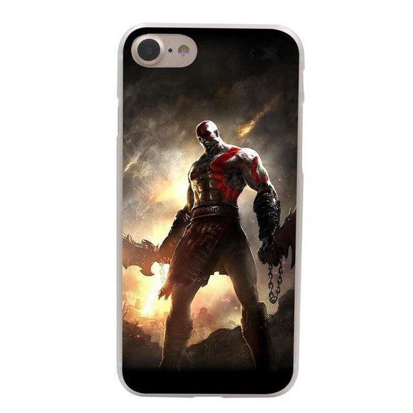 God of War II Hard Case for Apple iPhone X 10 8 7 6 6S Plus 5 5S SE 5C 4 4S Cover
