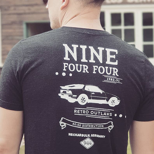This is our Premium double-sided Porsche 944 Outlaw shirt. The three-quarter rear premium image of the legendary 944 really makes this shirt pop. Porsche 944 Outlaw T-Shirt, Porsche 944 Short-Sleeve T-Shirt, 944 Tee, Porsche 944 Shirt, 944 Apparel, 944 Gift, 944 Car Gift, 944 Turbo.