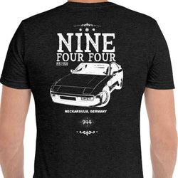 Premium Porsche 944 Car Graphic T-Shirt, Premium Porsche 944 T-Shirt, 944 Shirt Gift, 944 Apparel.  made with a tri-blend construction, printed back and front and inspired by vintage apparel look. We use a special tri-blend construction which is far superior to 100% cotton shirts.