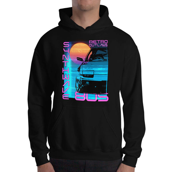 This 80's graphic Hoodie is a perfect gift for Synthwave, Vaporwave, Aesthetic, Retrowave, Darkwave, Futuresynth, Retrofuturism, Cyberpunk and Chillwave fans.