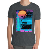 Retro Futurism Vaporwave T-Shirt At Retro Outlaws we love all things 80's from the music to the retro designs. This is our Vaporwave Shirt that is inspired by the 80's aesthetic synth-style.   This 80's graphic t-shirt is a perfect gift for Synthwave, Vaporwave, Aesthetic, Retrowave, Darkwave, Futuresynth, Retrofuturism, Cyberpunk and Chillwave fans.