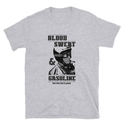 Blood Sweat and Gasoline Biker T-Shirt. Biker T-Shirt, Motorcycle T-Shirt, Biker Dad Shirt, Motorcycle Dad Shirt, Biker Slogan Shirt. Gasoline Shirt.