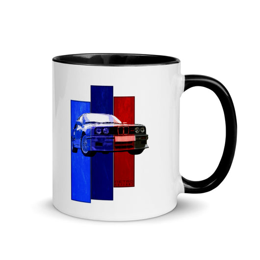 German M3 Sports Car Coffee Mug Gift with Color Inside