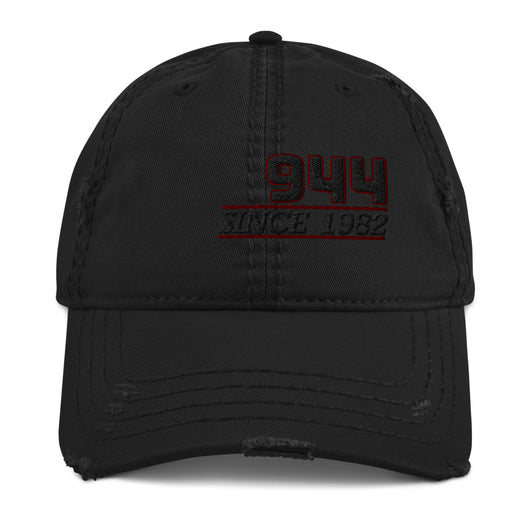 This is our Porsche 944 distressed Cap exuding retro-cool. This Porsche 944 Hat is in the style of the fashionable dad hat with a slightly distressed brim and crown fabric. We also stock Porsche 944 Shirts, Porsche 944 Hoodies Ideal, 944 Jackets, 944 Mugs, Porsche 944 gifts, Porsche 944 Birthday gifts etc