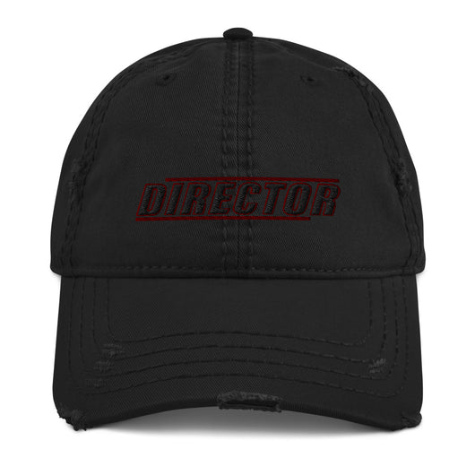 This is our Director distressed Cap exuding retro-cool. This is in the style of the fashionable dad hat with a slightly distressed brim and crown fabric, to give it that aged look and just the right amount of edge to your look.   This Director Hat is perfect as a film Director gift, Directors, Video Directors, TV Directors, Gifting, Valentines Day, Father's Day, Birthdays, Christmas, Anniversaries, Graduation, and any other Special Occasion.