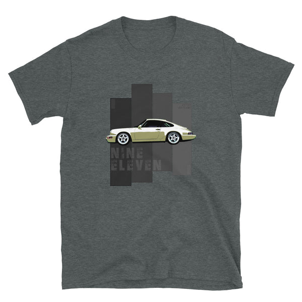 Porsche Classic T-Shirt This is our classic Porsche Classic tribute shirt. The premium side shot of the classic 911 (model 964) really makes this shirt pop. The unique design has a timeless look making it the ideal Porsche accessory accompaniment and must-have fashion basic for every closet. Ideal Porsche Gift. for him, porsche 911, porsche 964 shirt, porsche graphic car shirt