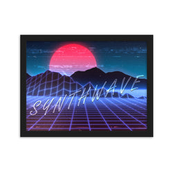 Synthwave Framed Poster