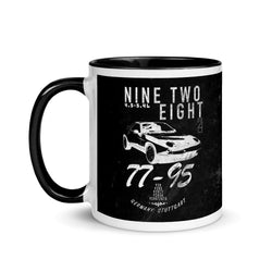 Porsche Vintage 928 Coffee Mug. This is our classic Porsche Outlaw tribute Mug. The top-down premium image of the legendary 928 really makes this mug pop. Porsche 928 Mug, Porsche 928 Coffee Cup, 928 Mug, porsche 928 gt, porsche 928 s4, Porsche Gift, GTS