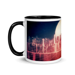 Synthwave Glitch Landscape Coffee Mug