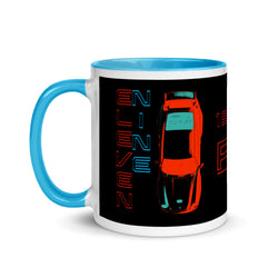 Porsche Sport Vintage 911 Coffee Cup. This is our classic Vintage Porsche Outlaw tribute Mug. The top-down premium image of the legendary 993 RSR really makes this mug pop. Porsche Coffee Cup, Porsche Coffee Mug, Porsche Gift, Mens Porsche, Porsche Birthday, Ideal Porsche Gift.