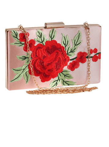 Beatiful Bag Flower Embroidery Clutch Bag for Women