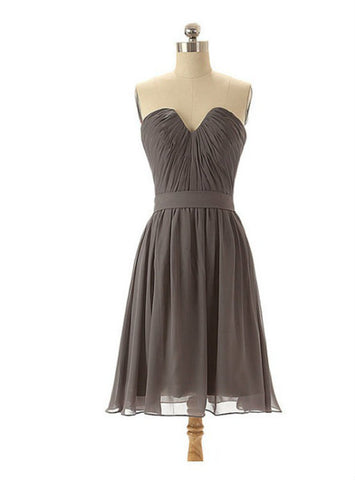Latest Grey bridesmaid dresses chiffon bridesmaid dresses short bridesmaid dresses