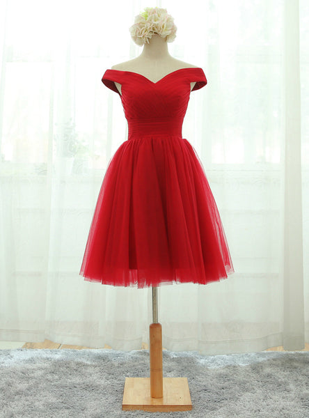 Elegant Lace-up Homecoming Dresses Red Party Dresses