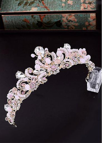Fashion Stunning Alloy Wedding Tiaras With Rhinestones