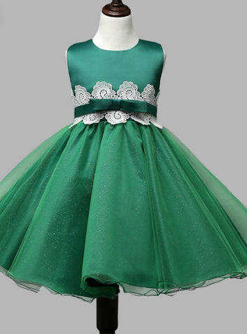 Lovely 2017 Emerald green pageant dresses for little girls ball gown