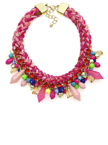 Chunky Collar Necklace Women New Statement Jewelry Candy Bead