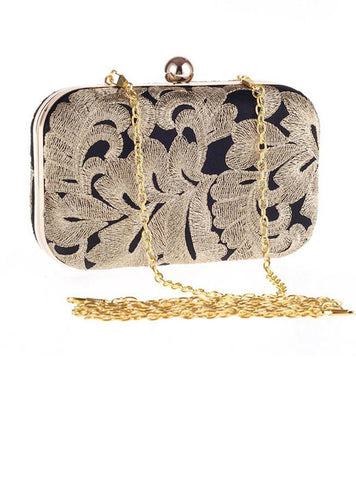 Fashion Vintage Embroidery Evening Clutch Bag
