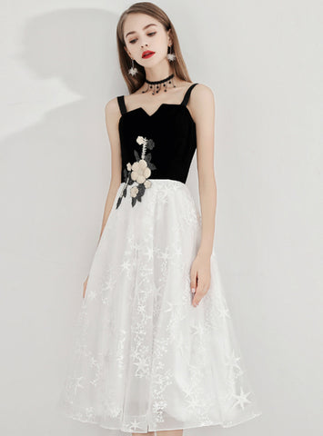 In Stock:Ship in 48 Hours Ready To Ship Pretty Straps Lace Appliques Prom Dress