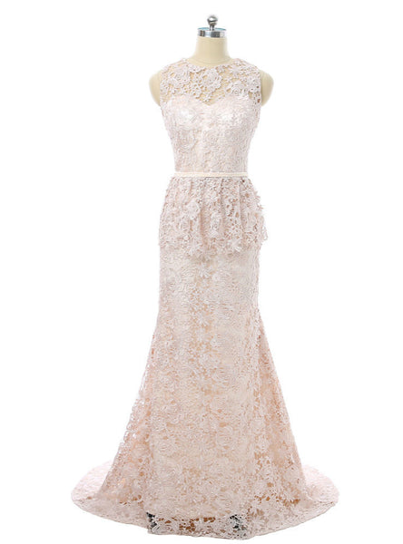 Popular Mermaid Lace Light Champagne 2017 Mother Of The Bride Dresses