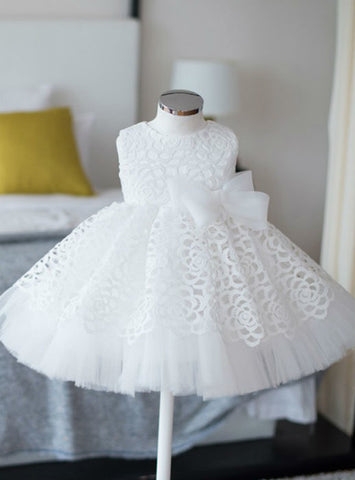 Cute Flower Girl Dresses White Real Simple Ball Gown Sleeves