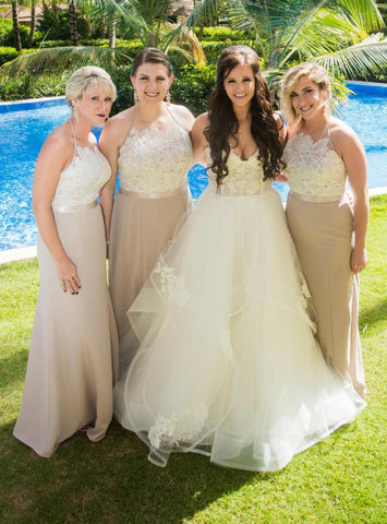 Elegance Halter Mermaid Long Bridesmaid Dresses Party Dress