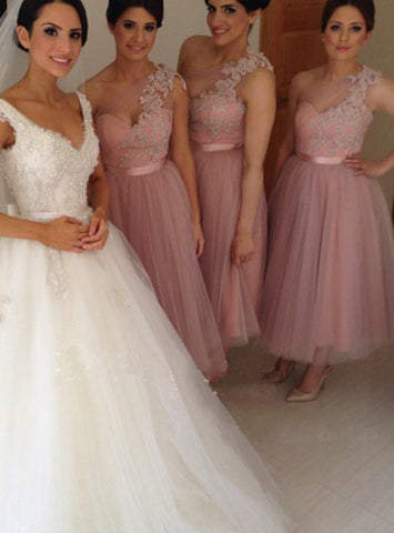Brilliant One Shoulder Bridesmaid Dress Short Bridesmaid Dress