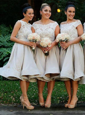 Tea Length Elegant Bridesmaid Dress Chiffon Bridesmaid Dress