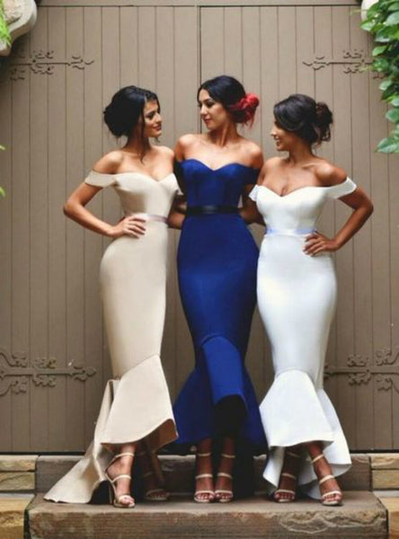 Evening Dress Bridesmaid Dresses Off Shoulder Bridesmaid Dresses