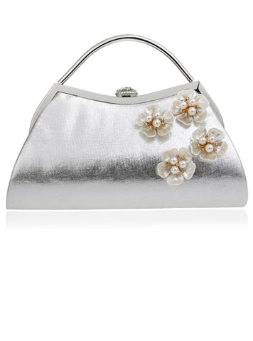 Women's Clutch Beautiful Trendy Style Pearl Adornment